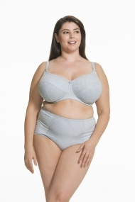 Frosted Parfait Flexi Wire Lace Nursing Bra  (Grey)