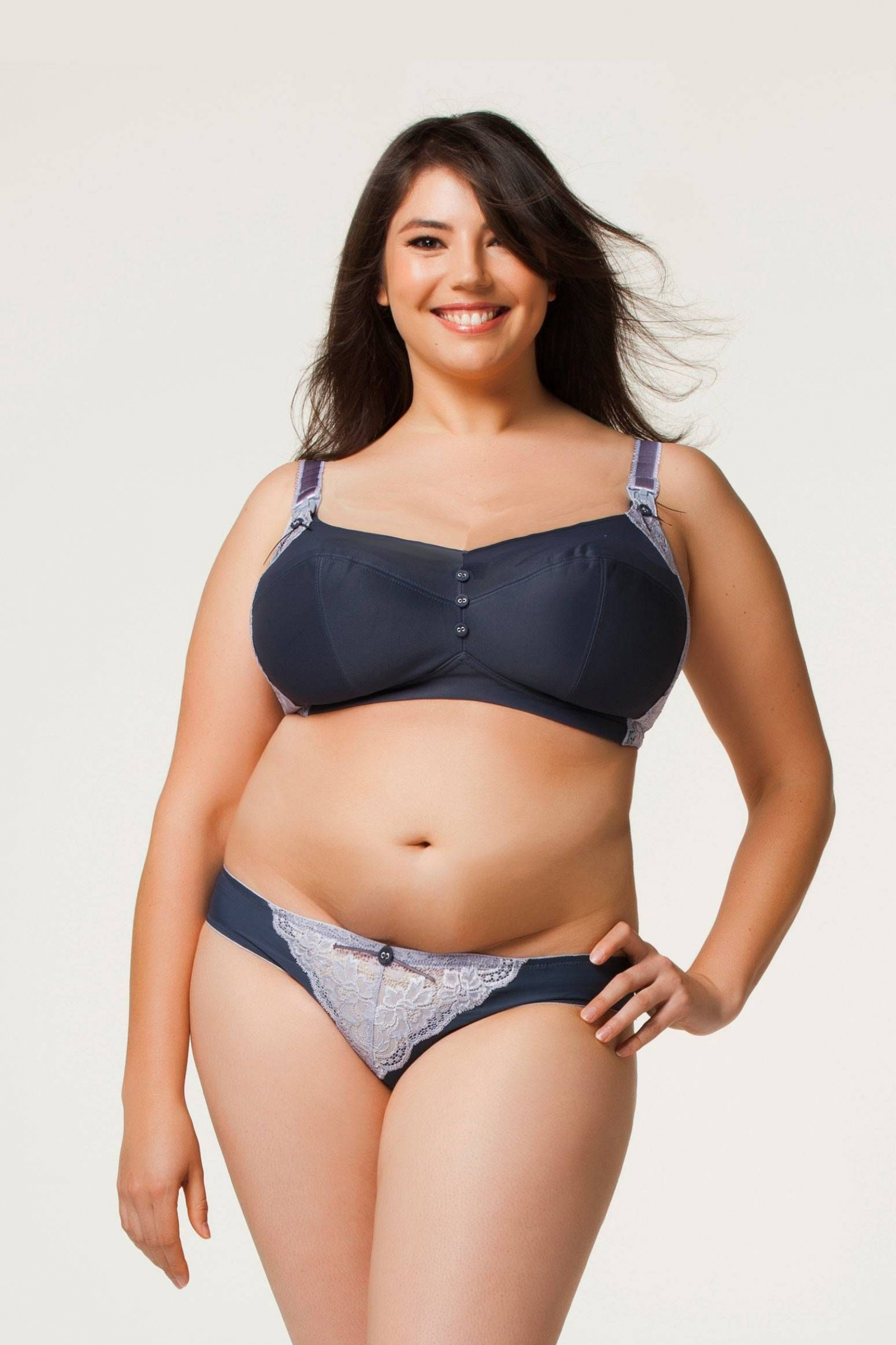 This means that plus-size women must often buy items based only on their own measurements and how it looks on the model. Making it worse: Smaller models may be padded in order to fill out plus.
