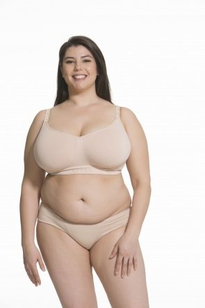 Sugar Candy Fuller Bust Seamless Everyday Bra (no Nursing Clips) (Nude)