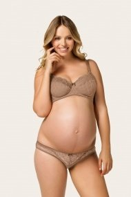 Licorice Twist Flexi Wire Nursing Bra (Caramel)