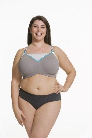 Zest Flexi Wire High Impact Maternity & Nursing Sports Bra (Grey)