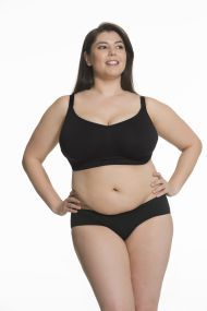 Sugar Candy Fuller Bust Seamless Everyday Bra (no Nursing Clips) (Black)
