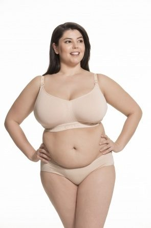 Sugar Candy Fuller Bust Seamless Nursing Bra (Nude)