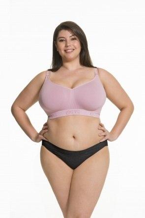 Sugar Candy Fuller Bust Seamless Nursing Bra (Pink)