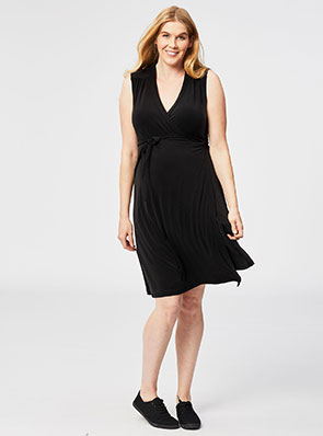 Sleeveless Maternity Wrap Dress
