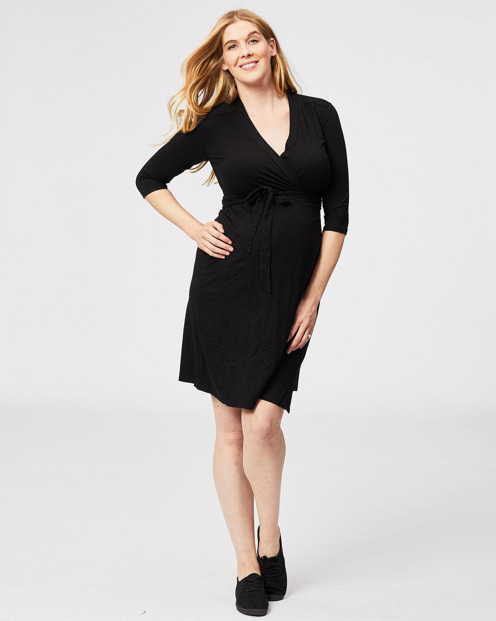 Long Sleeve Maternity Wrap Dress
