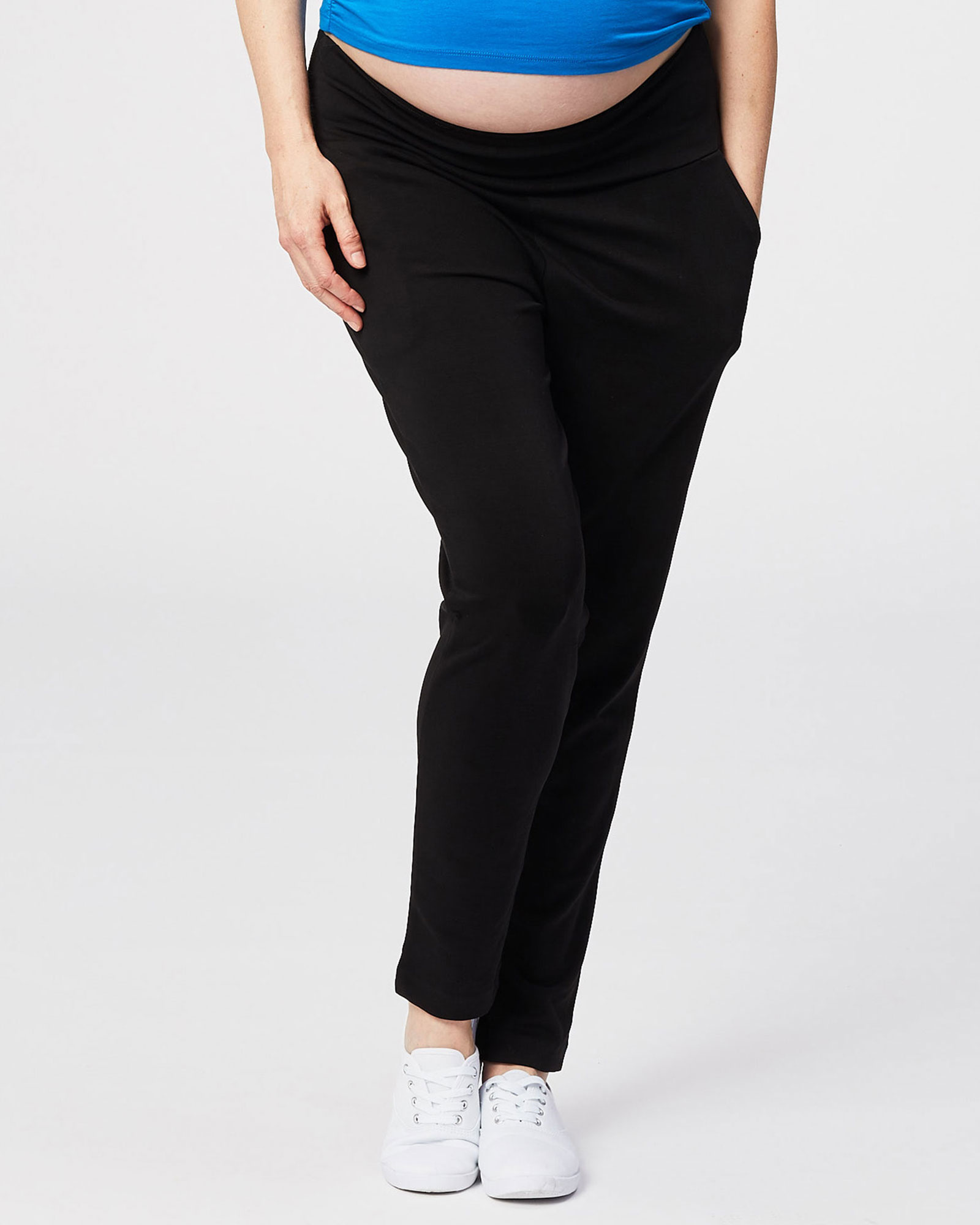 Relaxed Soft Ponte Full Length Maternity Pant
