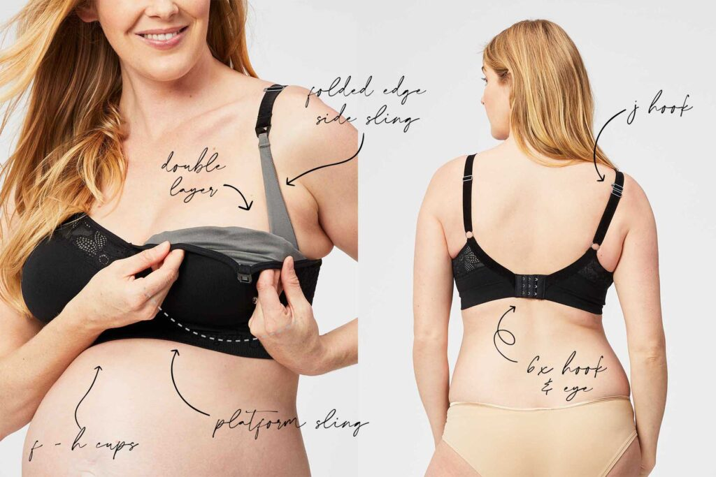 black sugarcandy lux nursing bra features