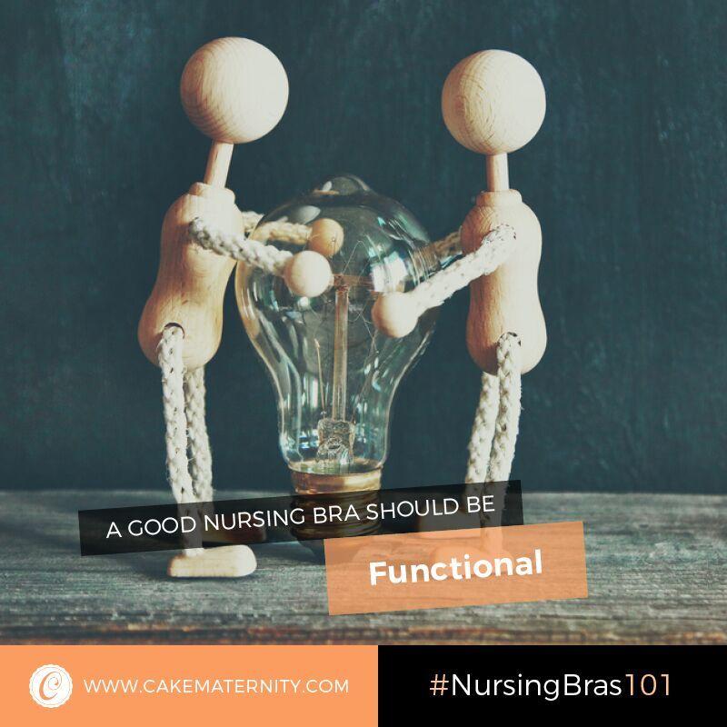 functional nursing bra