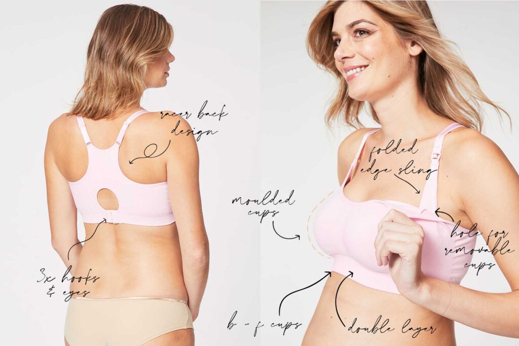 pink cotton candy nursing bra style