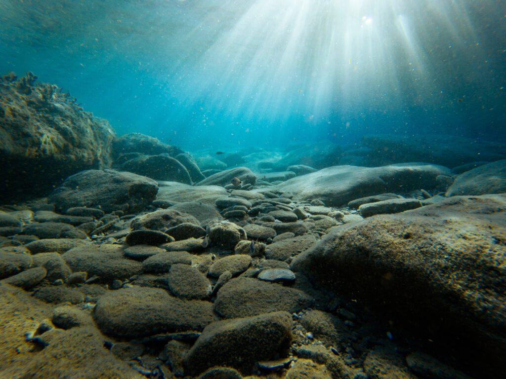 sea bed rocks