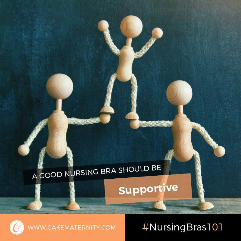 supportive nursing bra