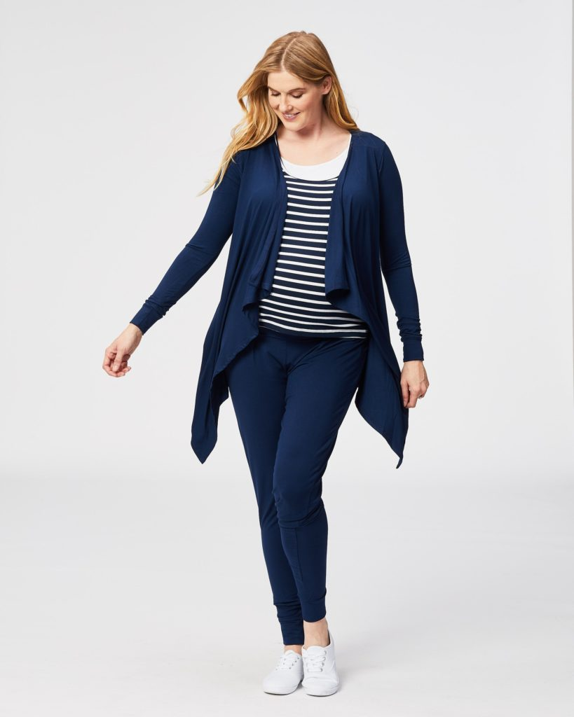 waterfall maternity wrap cardigan